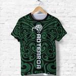 New Zealand Kiwi Shirts, Maori Warrior Moko T Shirt K4