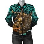 New Zealand Bomber Jacket for Women, Maori Waka Taua K4