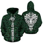 New Zealand Kiwi Zip Up Hoodie, Maori Warrior Moko Zipper Hoodie K4