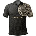 Maori Polo Shirt, Maori Warrior Tattoo Golf Shirts Tan - Customized A75