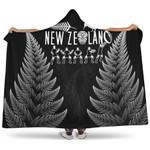 New Zealand Haka Rugby Silver Fern Hooded Blanket K4