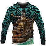 New Zealand Hoodie, Maori Waka Taua Pullover Hoodie K4