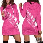 Rugby Haka Fern Hoodie Dress Pink K4 - 1st New Zealand