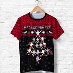 New Zealand Christmas Shirt, Meri Kirihimete Haka Tree T-Shirt K4 - 1st New Zealand