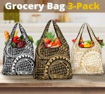 Polynesian Lauhala Grocery Bag 3-Pack K5 - 1st New Zealand