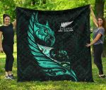 New Zealand Premium Quilt Manaia Paua Fern Wing - Turquoise K4 - 1st New Zealand