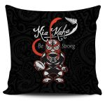 Rugby Kia Kaha Be Strong Polo Pillow Cover Black K4 - 1st New Zealand