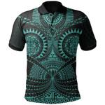 Polynesian Tattoo Polo Shirt Turquoise TH5 - 1st New Zealand