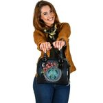 New Zealand Shoulder Handbag - Polynesian Ohana Turtle Hibiscus Mother Son A24 - 1st New Zealand