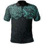 New Zealand Polo Shirt, Maori Polynesian Tattoo Turquoise TH45 - 1st New Zealand