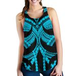Samoan Tattoo Women's Racerback Tank Blue TH4 - 1st New Zealand