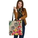 Turtle Polynesian Tote Bag Hibiscus Colorful TH5 - 1st New Zealand