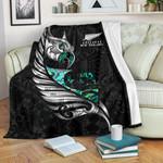 New Zealand Premium Blanket Manaia Paua Fern Wing - White K4 - 1st New Zealand