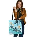 New Zealand Tote Bag - Blue Turtle Hibiscus A24 - 1st New Zealand