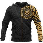 Polynesian Tattoo Zip Hoodie A75 - 1st New Zealand