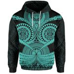 Polynesian Tattoo All Over Print Hoodie Turquoise 2 TH5 - 1st New Zealand