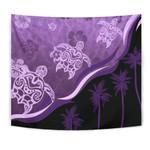 Purple Turtle Hibiscus Tapestry K5 - 1st New Zealand