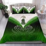 (Custom) Maori Manaia New Zealand Bedding Set Green Personal Signature K4 - 1st New Zealand