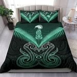 (Custom) Maori Manaia New Zealand Bedding Set Turquoise Personal Signature K4 - 1st New Zealand