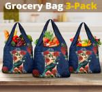 New Zealand Tui Bird Pohutukawa Grocery Bag 3-Pack K5 - 1st New Zealand