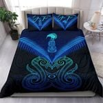 (Custom) Maori Manaia New Zealand Bedding Set Blue Personal Signature K4 - 1st New Zealand