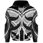 Samoan Tattoo All Over Hoodie White TH4 - 1st New Zealand