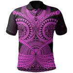 Polynesian Tattoo Polo Shirt Purple 2 TH5 - 1st New Zealand