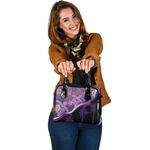 Purple Turtle Hibiscus Large Leather Tote K5 - 1st New Zealand