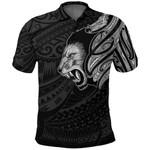 New Zealand Polo Shirt Maori Lion Tattoo - White A74 - 1st New Zealand
