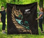 New Zealand Premium Quilt Manaia Paua Fern Wing - Gold K4 - 1st New Zealand