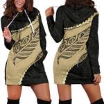 Paua Shell, Maori Silver Fern Women's Hoodie Dress K5 - 1st New Zealand