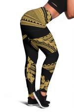 Samoan Tattoo Women's Leggings Gold TH4 - 1st New Zealand
