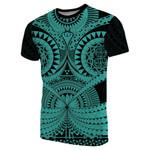 Polynesian Tattoo T-Shirt Turquoise 2 TH5 - 1st New Zealand