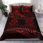 Aotearoa Bedding Set Red Maori Manaia with Silver Fern TH5 - 1st New Zealand