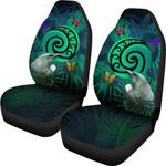 New Zealand Car Seat Covers Koru Fern Mix Tui Bird - Tropical Floral Turquoise K4 - 1st New Zealand