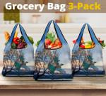 Tui Bird Wanaka Lake Grocery Bag 3-Pack K5 - 1st New Zealand