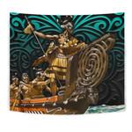 New Zealand Tapestry, Maori Waka Taua K4 - 1st New Zealand
