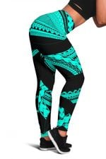 Samoan Tattoo Women's Leggings Turquoise TH4 - 1st New Zealand