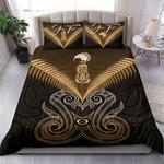 (Custom) Maori Manaia New Zealand Bedding Set Gold Personal Signature K4 - 1st New Zealand