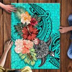 Turtle Polynesian Jigsaw Puzzle Hibiscus Polynesian TH5 - 1st New Zealand