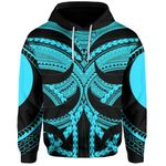 Samoan Tattoo All Over Hoodie Blue TH4 - 1st New Zealand