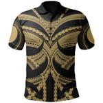 Samoan Tattoo Polo Shirt Gold TH4 - 1st New Zealand