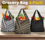 Polynesian Maori Tribal Grocery Bag 3-Pack K5 - 1st New Zealand