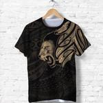 New Zealand T Shirt Maori Lion Tattoo - Gold A74 - 1st New Zealand