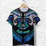 Aotearoa T Shirt Silver Fern Tangaroa | 1st New Zealand