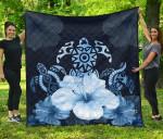 Turtle And Hibiscus Premium Quilt TH5 - 1st New Zealand