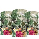 Turtle And Coconut Tree Bandana 3-Pack Hibiscus And Turtle On the Beach TH5 - 1st New Zealand