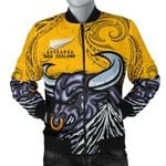 New Zealand Maori Men Bomber Jacket Taranaki  Bull K4 - 1st New Zealand