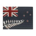New Zealand Poppies Flag x Anzac Silver Fern Puzzle K5 - 1st New Zealand