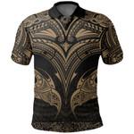 New Zealand The Mana Maori Polo Shirt Gold TH5 - 1st New Zealand